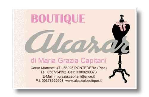 Biglietto da visita Alcazar